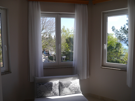 Beutiful view from the room in Crikvenica
